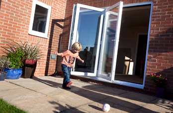 3 pane bi fold plus folding door
