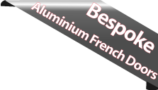 stock french aluminium doors