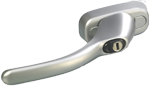 satin silver tilt and turn handle for bi fold doors